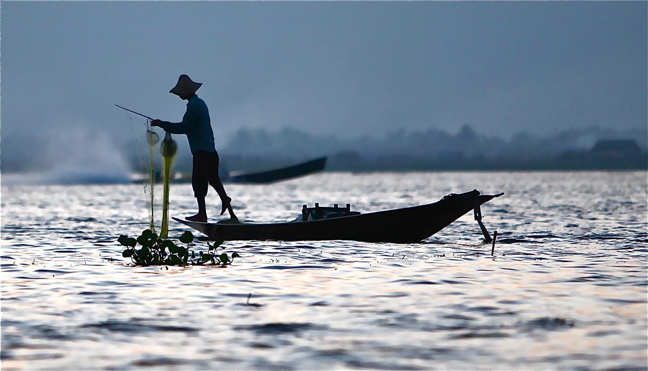 Pêcheur équilibriste du lac Inle