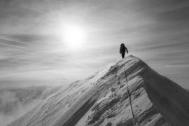 Arrivée au sommet du mont-Blanc