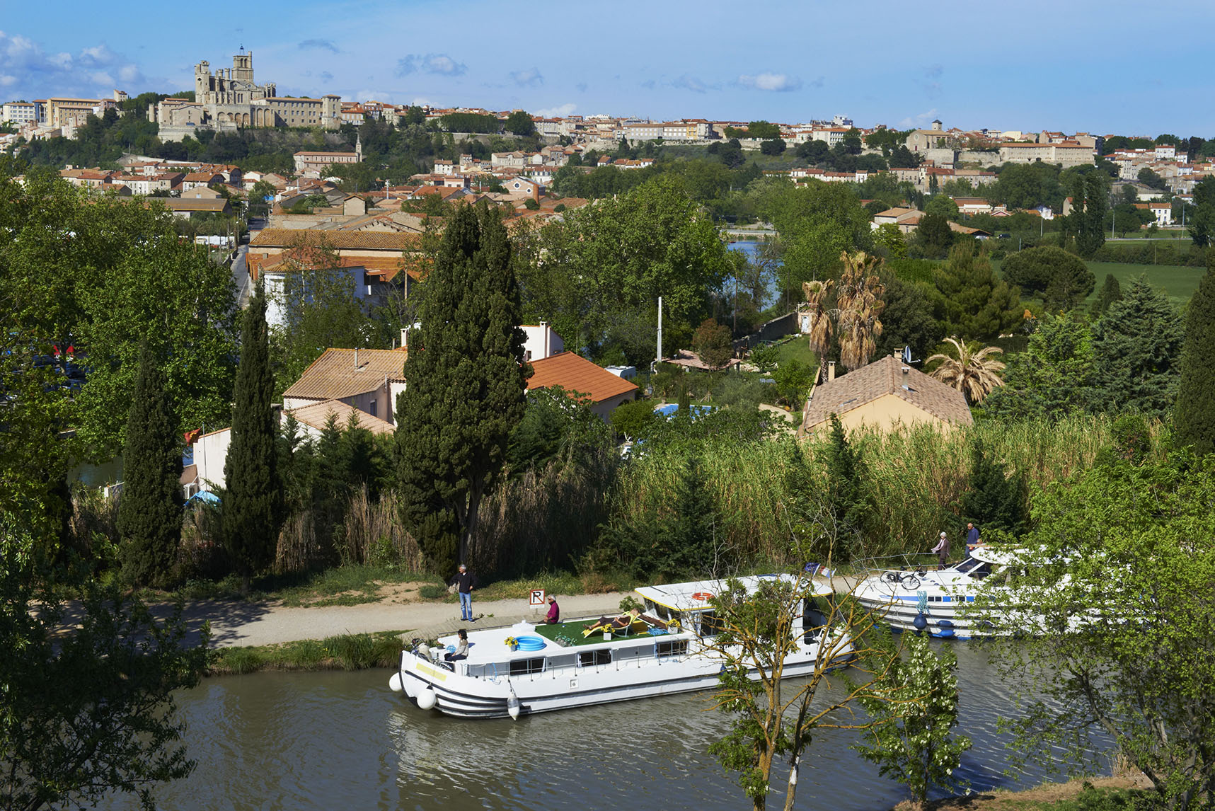 France, Herault department, Beziers and the Canal du Midi