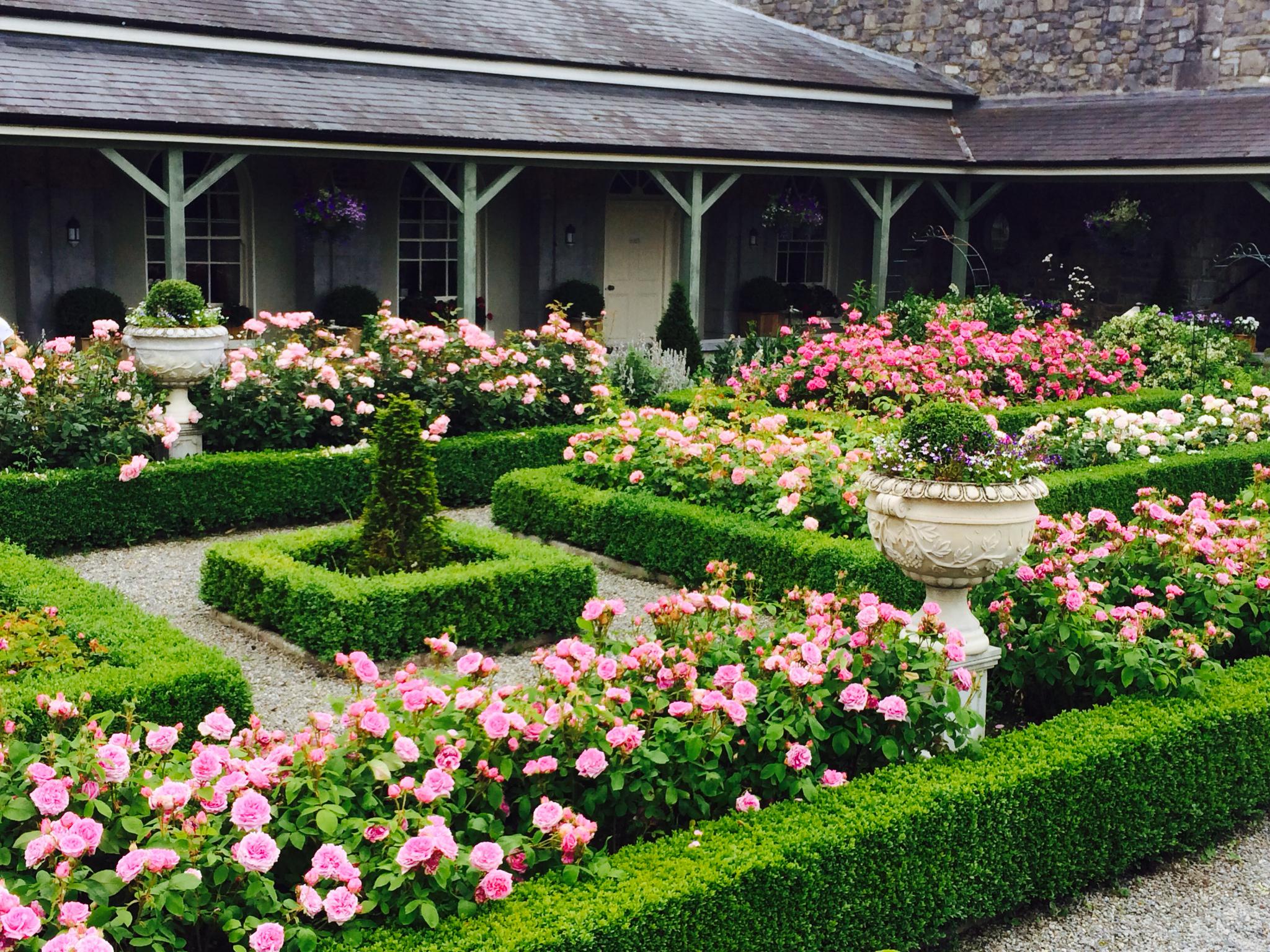 Castle-Durrow Exterior-Rose-Garden