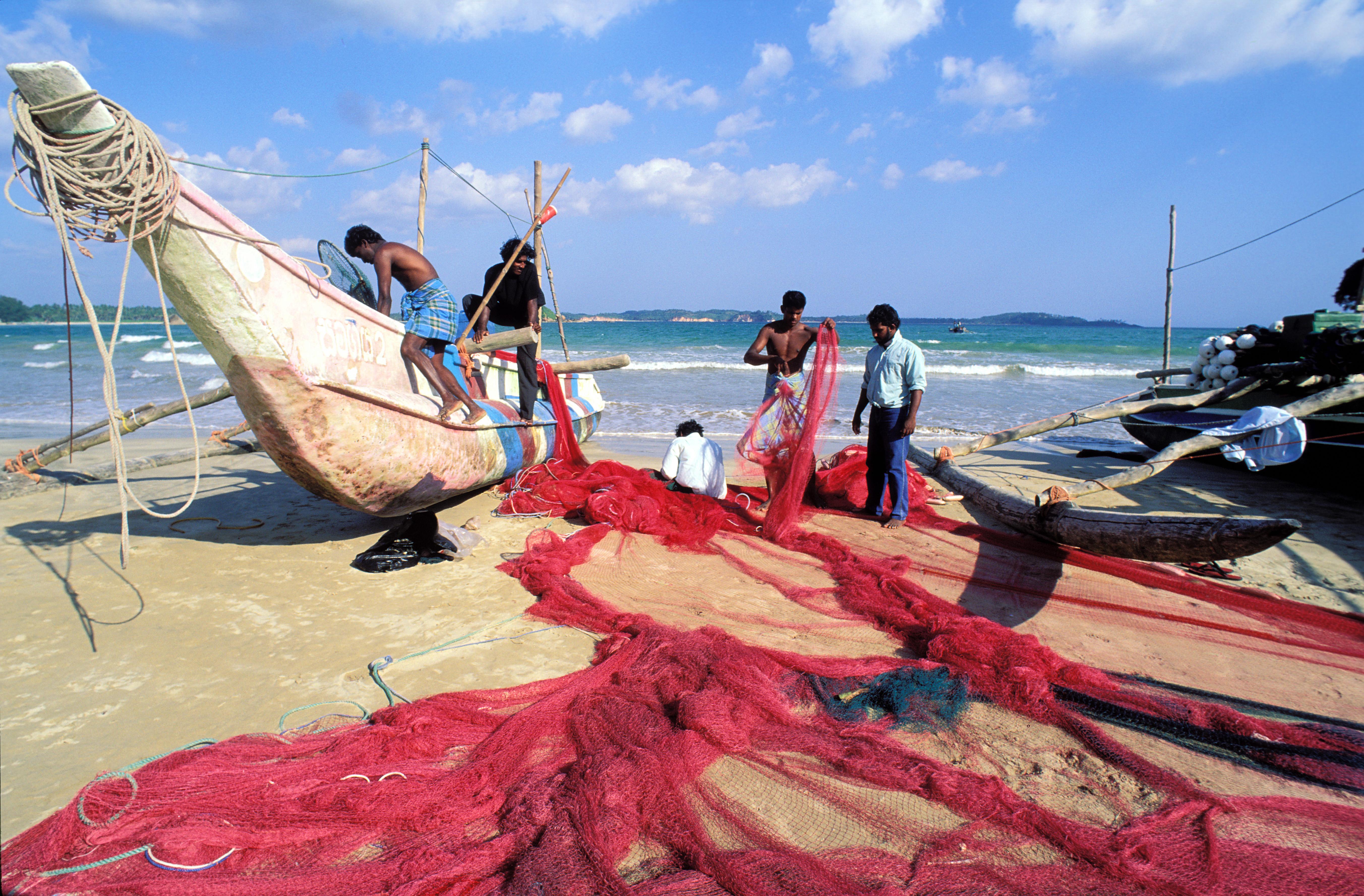 Sri Lanka - Pecheurs à Weligama