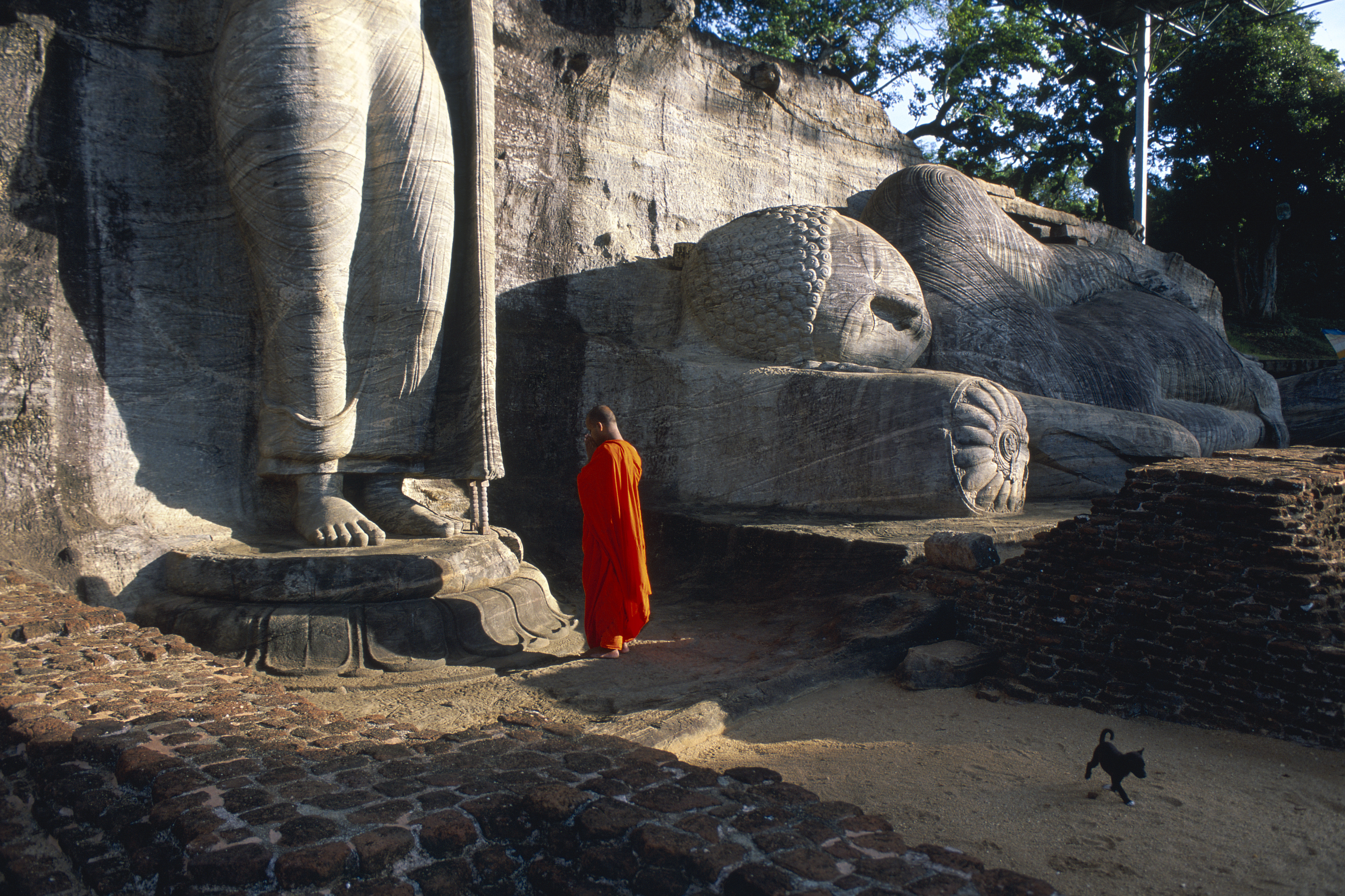 Sri Lanka. Polonnaruwa. Gal Vihara. Bouddha sculptures.