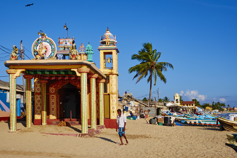 Sri Lanka, Trincomalee, fishing village