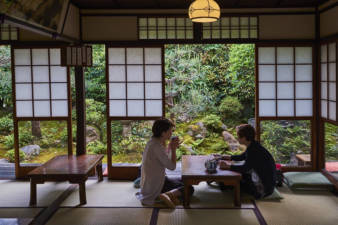 Japan, Honshu island, Kansai region, Kyoto, Kazariya-Aburi-Mochi tea house