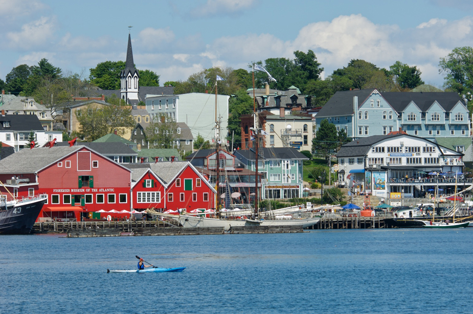 Kayaker on the Lunenburg Waterfront