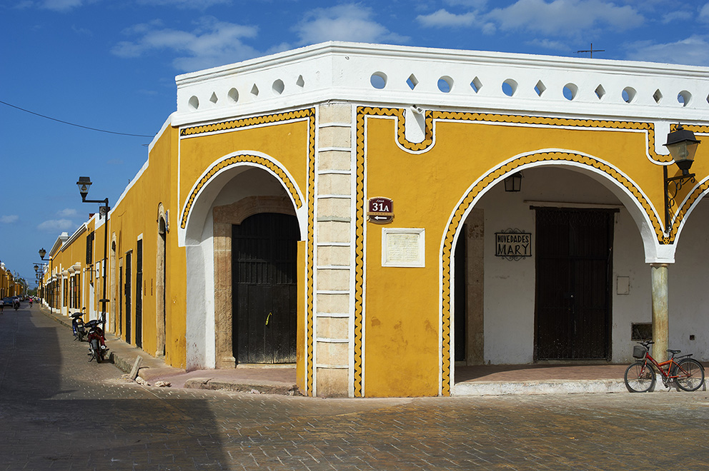 Mexico, Yucatan state, Izamal, yellow city