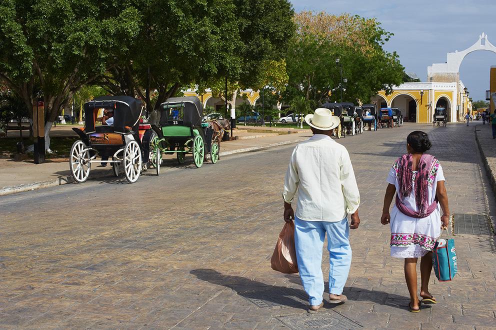 Mexico, Yucatan state, Izamal, yellow city