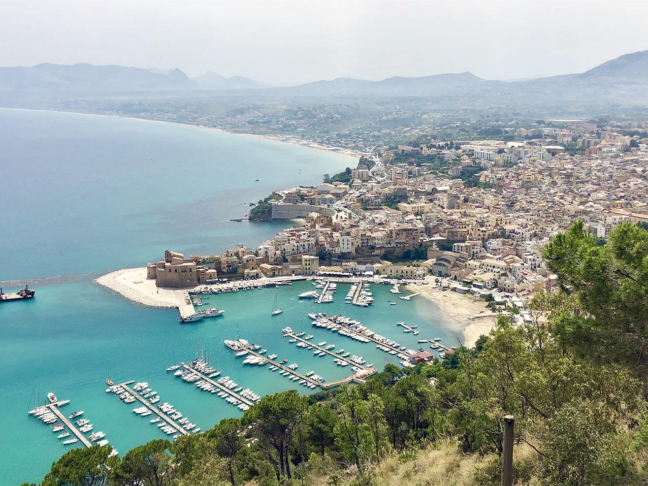 Zingaro- Belvédère au dessus de Castellammare del Golfo en Sicile