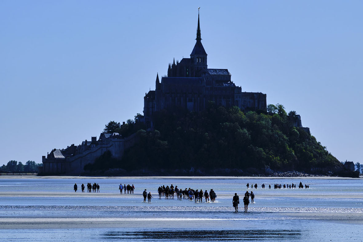 France, Normandy, Manche department, Bay of Mont Saint-Michel