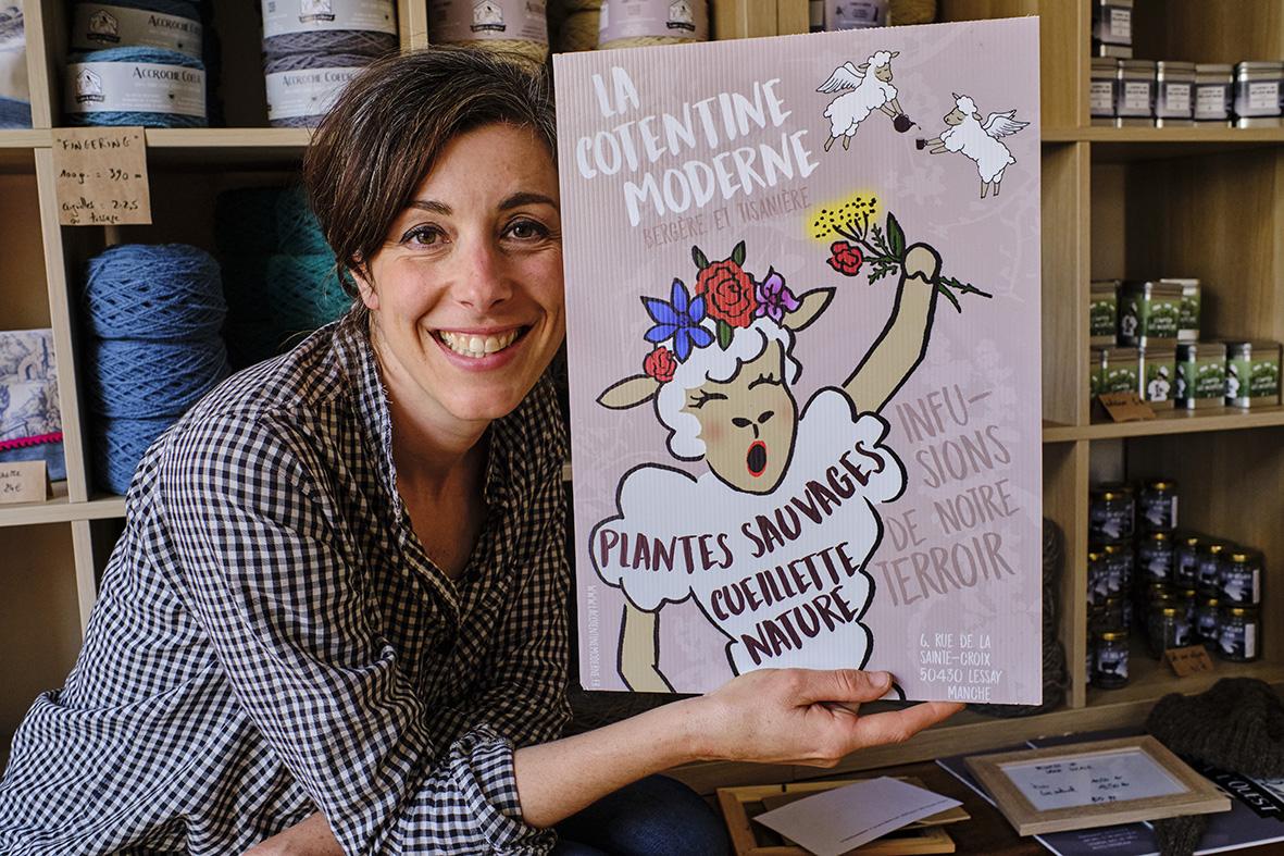 France, Normandy, Manche department, Saint-Germain-sur-Ay haven, Stéphanie Maubé the shepherdess