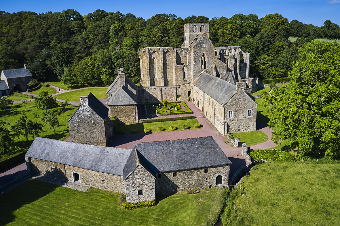France, Normandy, Manche department, Cotentin, Hambye, Hambye abbey, from 12 century