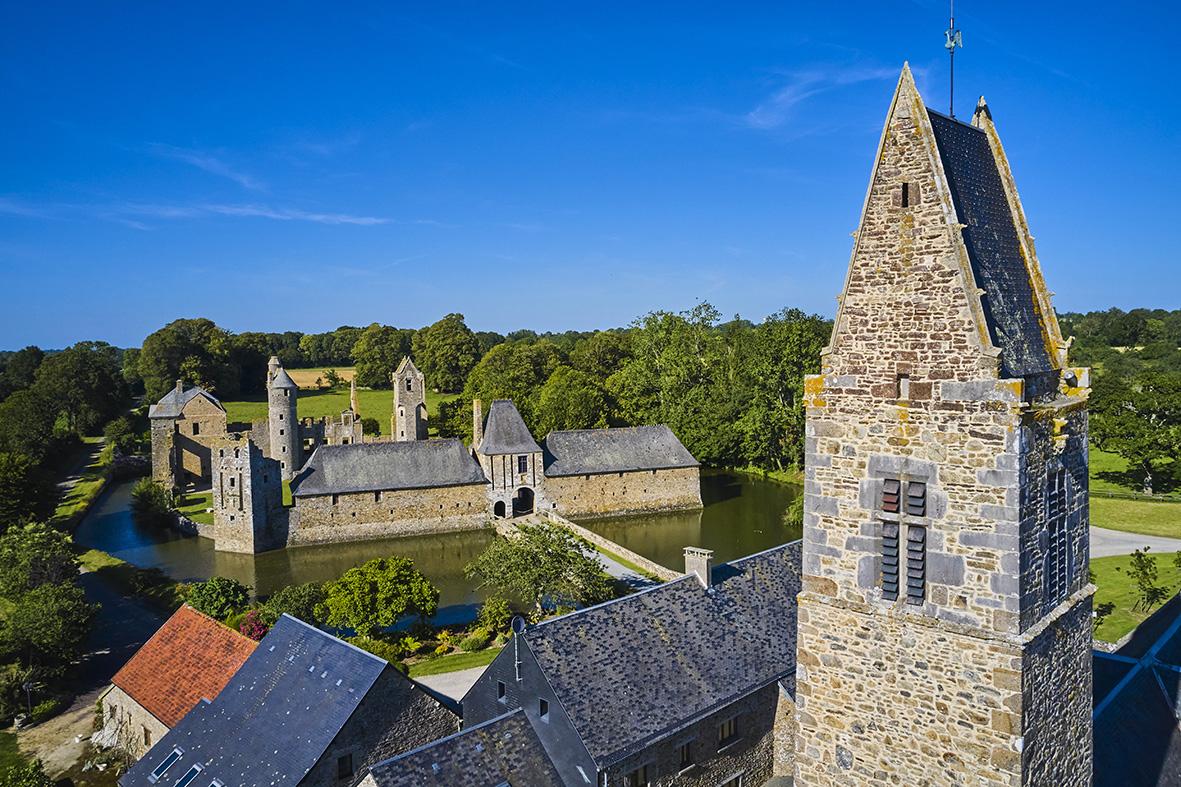 France, Normandy, Manche department, Cotentin, Gratot, Gratot castle