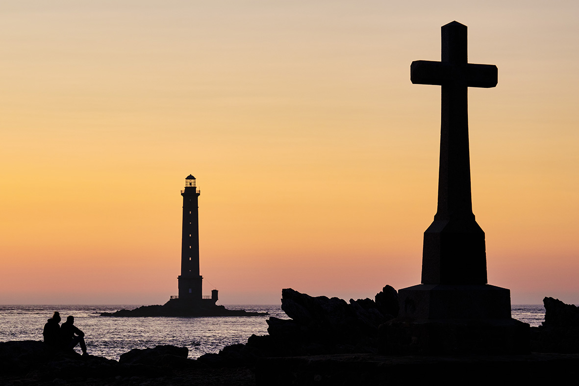 France, Normandy, Manche department, Cotentin, Cap de la Hague, Auderville, the port of Goury and the Goury lighthouse