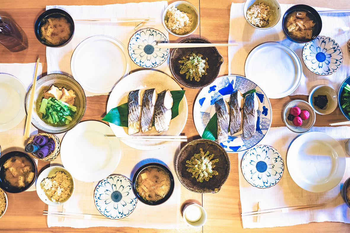 Petit-déjeuner, gîte, Naramachi, Nara