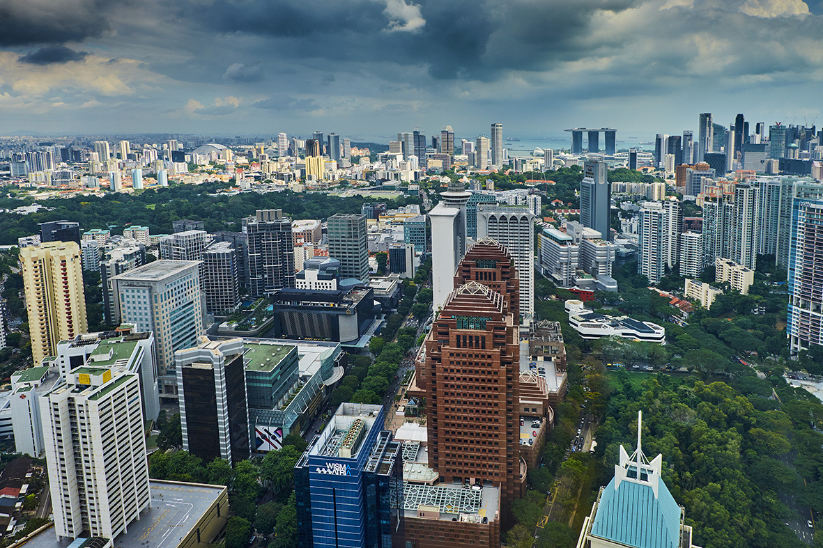 Singapore, cityscape and Orchad Road